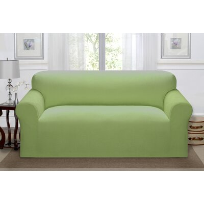Day Break Polyester Sofa Slipcover Upholstery: Moss