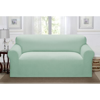 Day Break Polyester Sofa Slipcover Upholstery: Seaglass