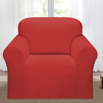 Day Break Box Cushion Armchair Slipcover Upholstery: Paprika