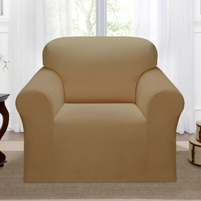 Day Break Box Cushion Armchair Slipcover Upholstery: Beige