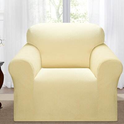 Day Break Box Cushion Armchair Slipcover Upholstery: Cream