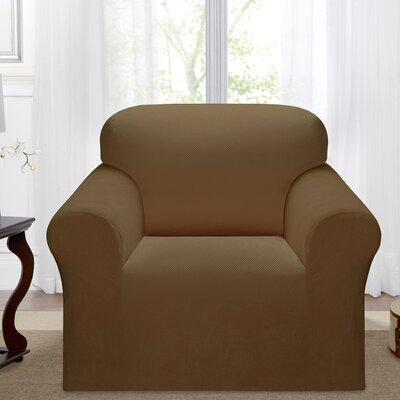 Day Break Box Cushion Armchair Slipcover Upholstery: Chestnut