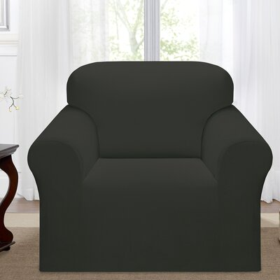 Day Break Box Cushion Armchair Slipcover Upholstery: Charcoal