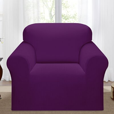 Day Break Polyester Armchair Slipcover Upholstery: Purple