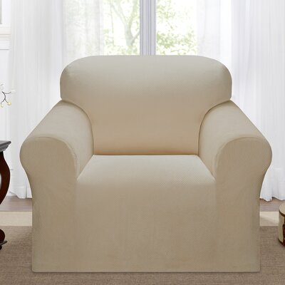 Day Break Polyester Armchair Slipcover Upholstery: Linen