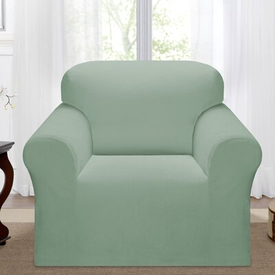 Day Break Polyester Armchair Slipcover Upholstery: Seaglass