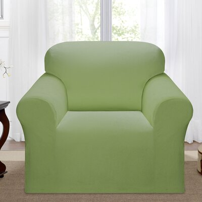 Day Break Box Cushion Armchair Slipcover Upholstery: Moss