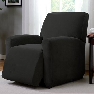 Day Break Polyester Recliner Slipcover Upholstery: Black