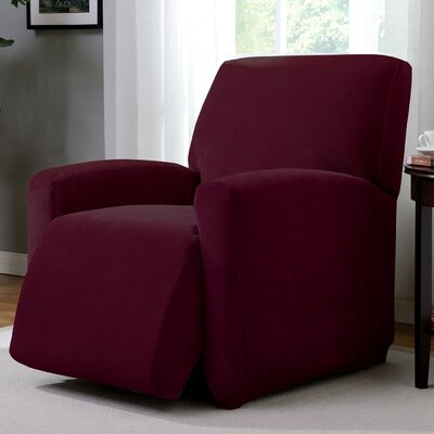 Day Break Polyester Recliner Slipcover Upholstery: Burgundy
