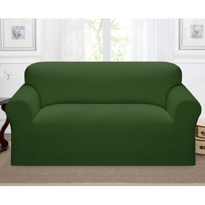 Day Break Box Cushion Loveseat Slipcover Upholstery: Forest