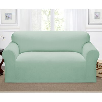 Day Break Box Cushion Loveseat Slipcover Upholstery: Seaglass