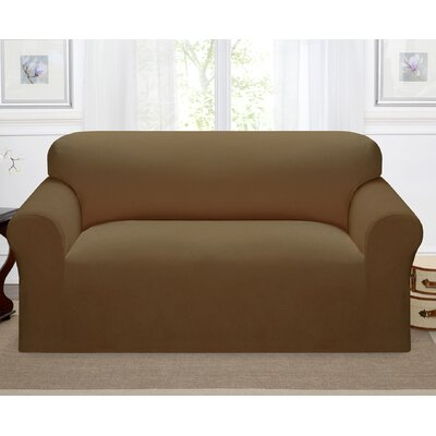 Day Break Box Cushion Loveseat Slipcover Upholstery: Chestnut