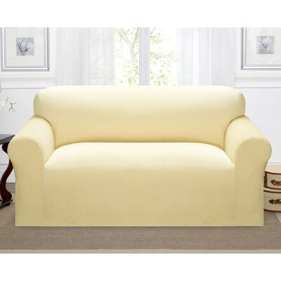 Day Break Box Cushion Loveseat Slipcover Upholstery: Cream