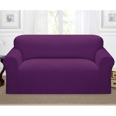Day Break Polyester Loveseat Slipcover Upholstery: Purple
