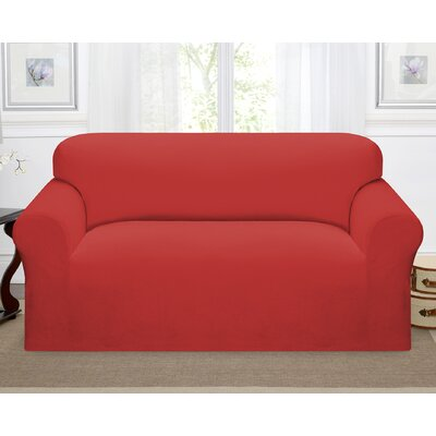 Day Break Box Cushion Loveseat Slipcover Upholstery: Paprika