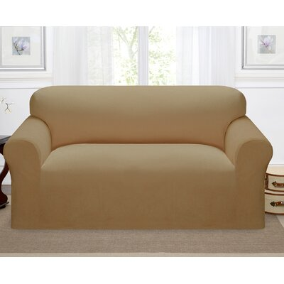 Day Break Polyester Loveseat Slipcover Upholstery: Beige
