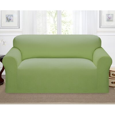 Day Break Box Cushion Loveseat Slipcover Upholstery: Moss
