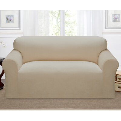 Day Break Polyester Loveseat Slipcover Upholstery: Linen