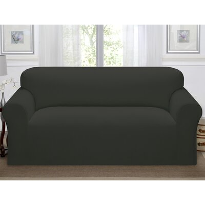 Day Break Polyester Sofa Slipcover Upholstery: Charcoal