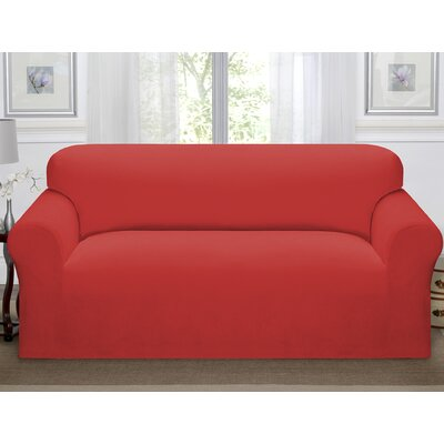 Day Break Polyester Sofa Slipcover Upholstery: Paprika