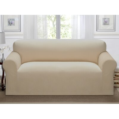 Day Break Polyester Sofa Slipcover Upholstery: Linen