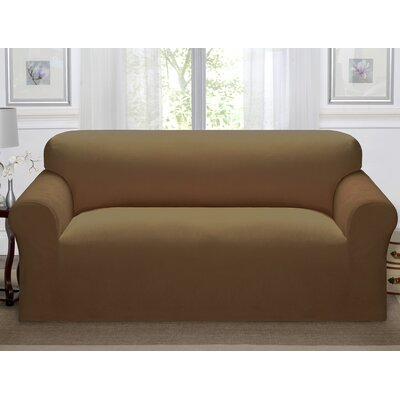 Day Break Polyester Sofa Slipcover Upholstery: Chestnut