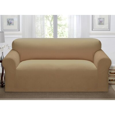 Day Break Polyester Sofa Slipcover Upholstery: Beige