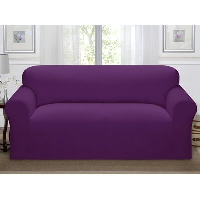 Day Break Polyester Sofa Slipcover Upholstery: Purple