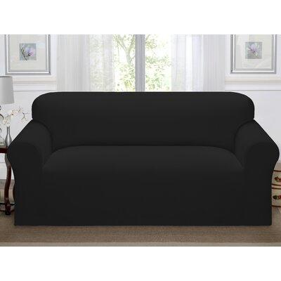 Day Break Polyester Sofa Slipcover Upholstery: Black