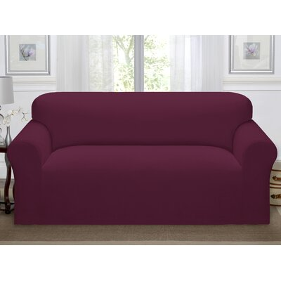 Day Break Polyester Sofa Slipcover Upholstery: Burgundy