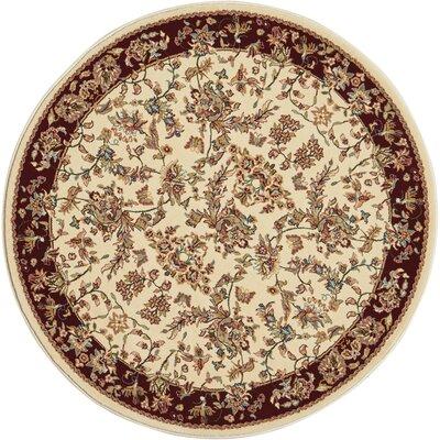 Mazee Ivory Area Rug Rug Size: Round 710