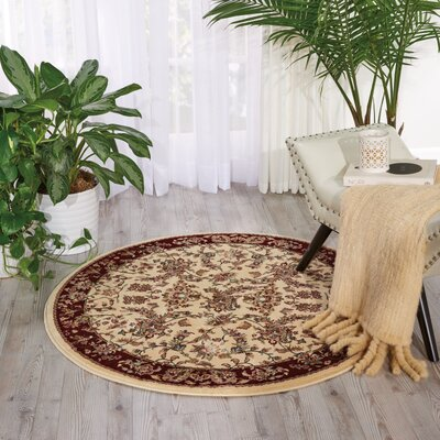 Mazee Ivory Area Rug Rug Size: Rectangle 53 x 74