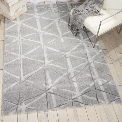 Kelsi Silver Area Rug Rug Size: Rectangle 710 x 910