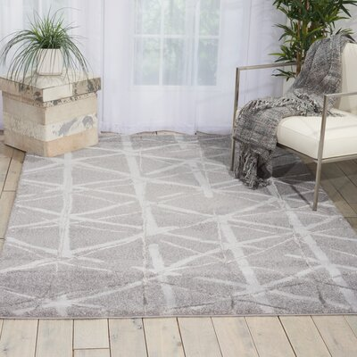 Kelsi Silver Area Rug Rug Size: Rectangle 53 x 73