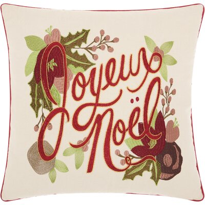 Addison Avenue Square Cotton Throw Pillow