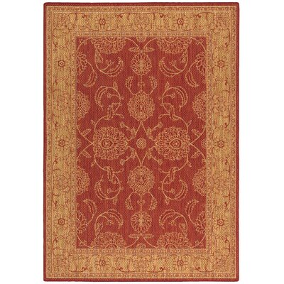 Ahoghill Red Area Rug Rug Size: 53 x 76