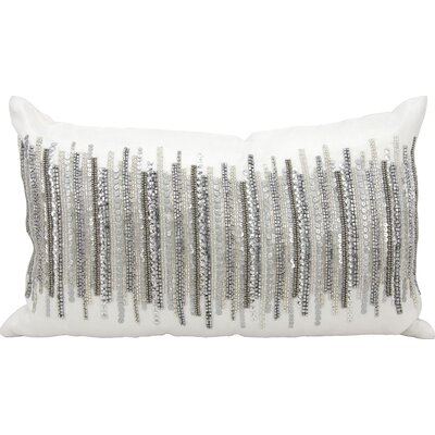Cinderford Lumbar Pillow Color: Silver/Beige/Gray