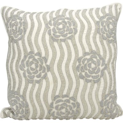 Kathy Ireland Throw Pillow Color: Silver