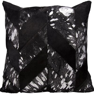 Kathy Ireland Throw Pillow Color: Black/Silver