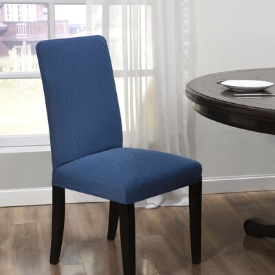 Box Cushion Dining Chair Slipcover Upholstery: Blue