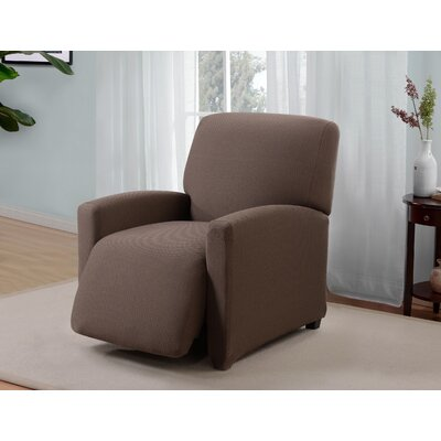Box Cushion Recliner Slipcover Upholstery: Brown