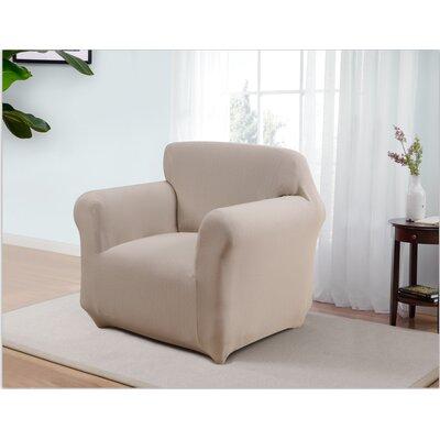 Box Cushion Armchair Slipcover Upholstery: Cream