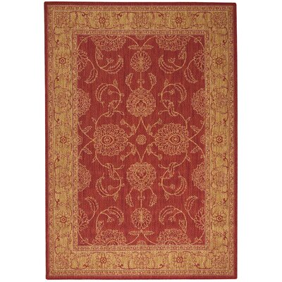 Ahoghill Red Area Rug Rug Size: Rectangle 53 x 76