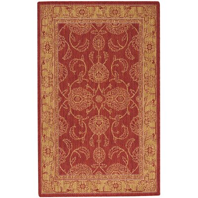 Ahoghill Red Area Rug Rug Size: Rectangle 36 x 56