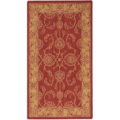 Ahoghill Red Area Rug Rug Size: Rectangle 26 x 46