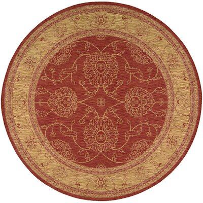 Ahoghill Red Area Rug Rug Size: Round 79