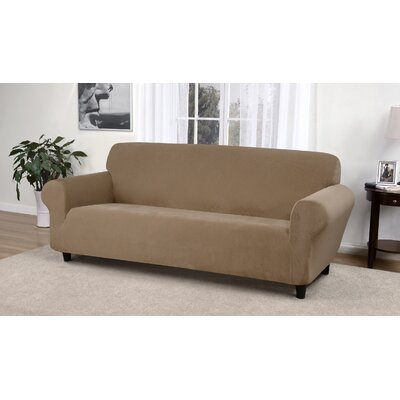 Day Break Box Cushion Sofa Slipcover Upholstery: Beige