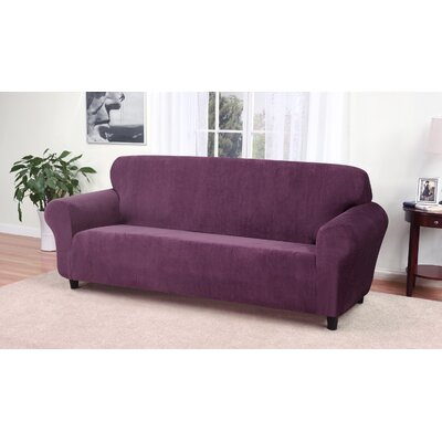 Day Break Box Cushion Sofa Slipcover Upholstery: Purple
