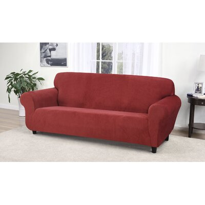 Day Break Box Cushion Sofa Slipcover Upholstery: Paprika