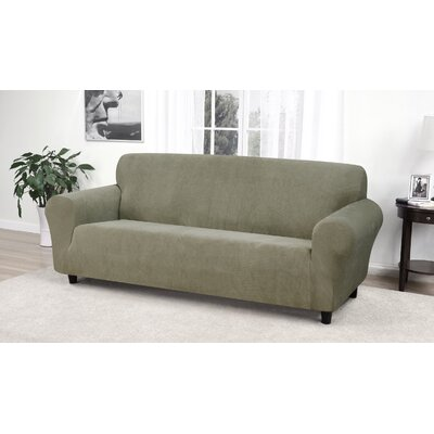 Day Break Box Cushion Sofa Slipcover Upholstery: Moss